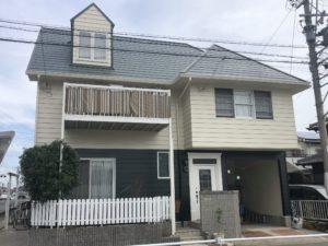 海部郡蟹江町 O様邸 外壁塗装・屋根板金カバー工事