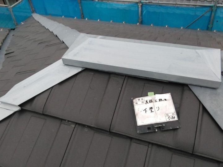 屋根板金塗装(下塗り)