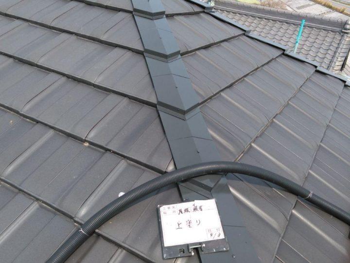 屋根板金塗装(上塗り)