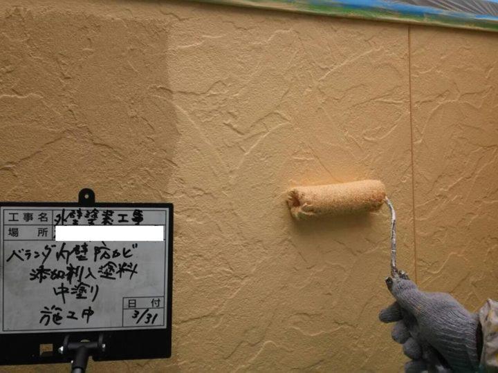 防カビ剤入り塗料施工