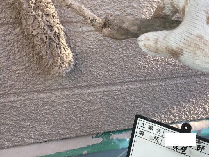 外壁上塗り施工