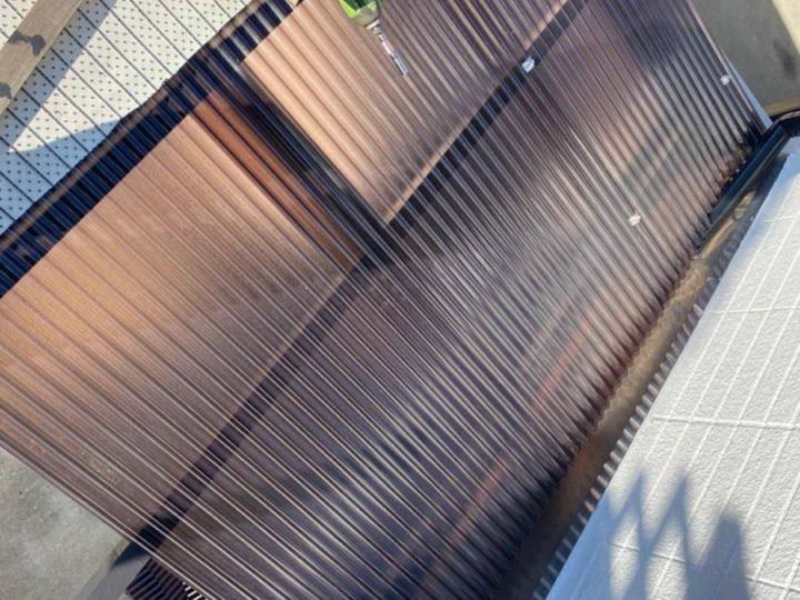 ポリカ波板屋根設置