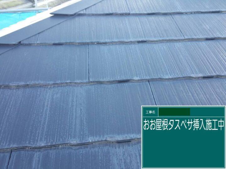 屋根塗装(タスペーサー設置)