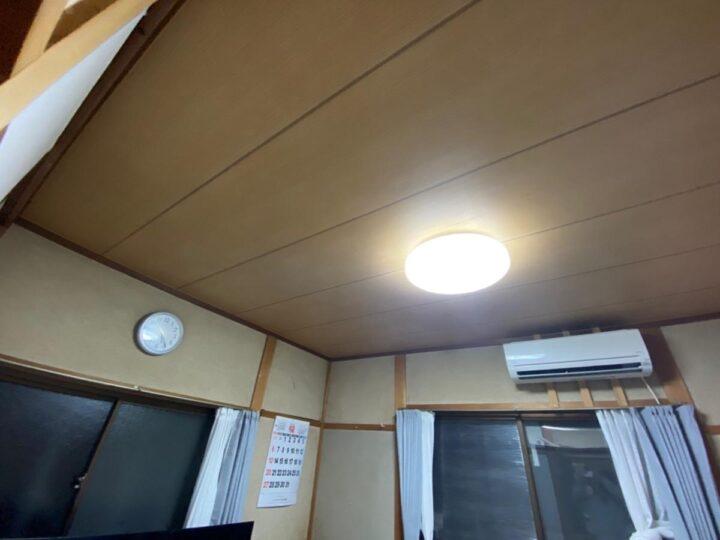 天井合板貼り施工