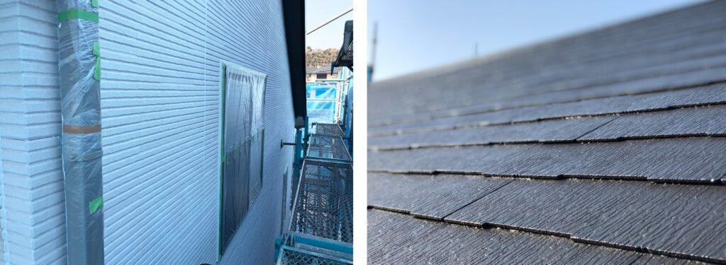 屋根施工後の養生作業