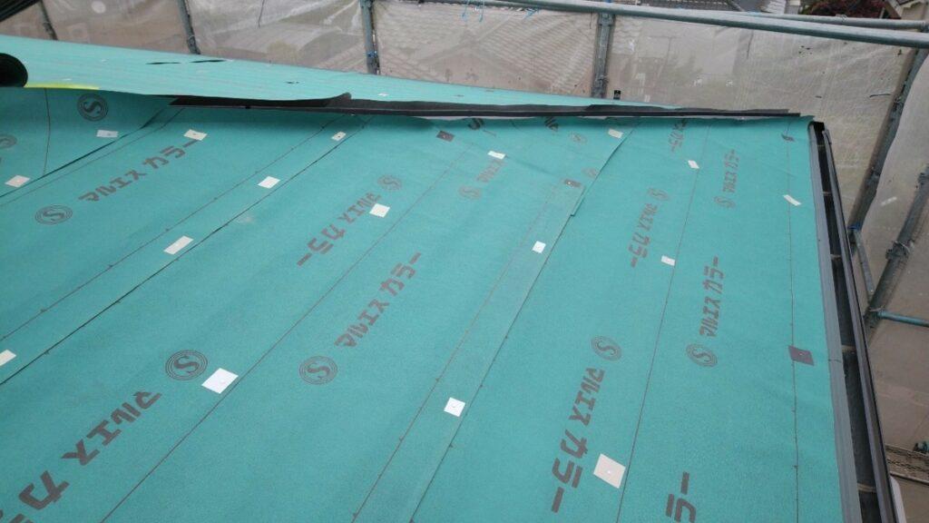 屋根下葺き施工