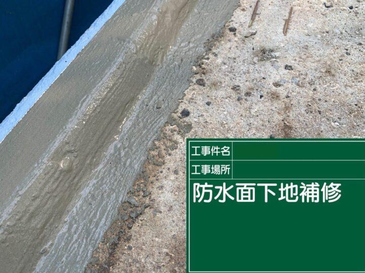 大屋根防水面下地補修